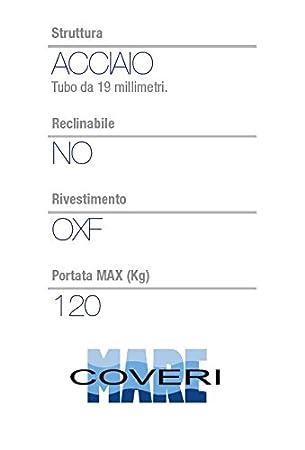 Blu//Rosso Perfetta per Mare E Giardino Enrico Coveri Sedia Regista con Struttura in Alluminio E Tessuto in Oxford con Design Marino Spiaggia