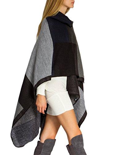 CASPAR-PON006-Poncho-styl-pour-femme-CouleurnoirTailleOne-Size