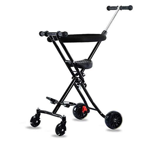 Empuje del bebé, coche uno-botón plegable carretilla portable con el bolsillo simple del bebé con el sistema de seguridad...