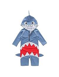 May's Kids Boys Shark Design Sun Protection Swimwear Swimming Bathing Onepiece