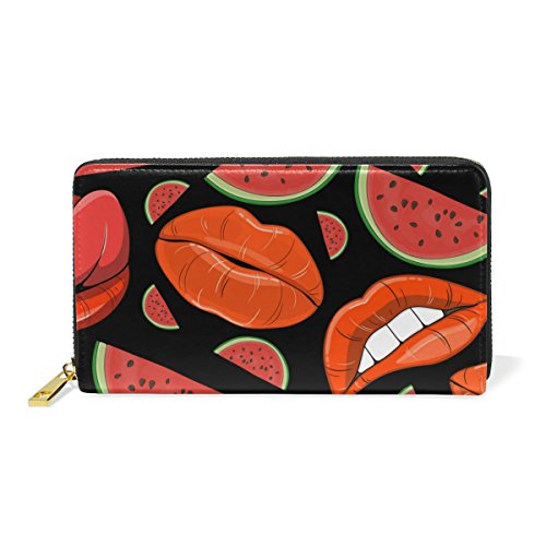 Zip Lips Womens Watermelons And TIZORAX Around And Purses Organizer Handbags Clutch Wallet faHRHW