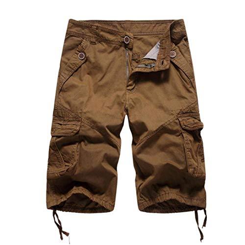 Pantaloncini Kaffee Sportivi Jogging Bermuda Giovane Da Casuali Ginnastica Cargo Estivi Uomo Pantaloni Classici OArOqBw