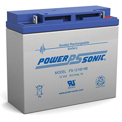 Power-Sonic 12V 18AH SLA Battery Replaces Lobster Elite 2 Tennis Ball Machine