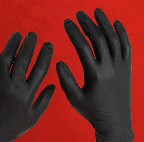Adenna Night Angel 4 mil Nitrile Powder Free Exam Gloves (Black, X-Small) Box of 100