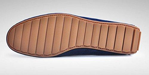 Crc Mens Mode Décontracté Confort Slip Sur De Haute Qualité Daim Cuir Marche Bateau Bateau Chaussures Bleu Foncé