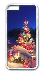 iPhone 6 Case,VUTTOO iPhone 6 Cover With Photo: Merry Christmas Happy Holidays For Apple iPhone 6 4.7Inch - PC Transparent Hard Case