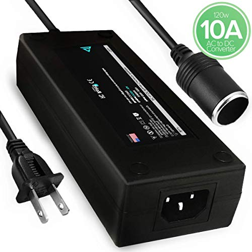 [120W] SoutLinks 10A AC to DC Converter 110V to 12V Car Cigarette Lighter Socket 12V Power Supply, 110~220V to 12V AC DC Converter, Adapter for Air Compressor, Coolers, Car Vacuum Cleaners and More (Ac To Dc Adapter For Car Vacuum Cleaner)