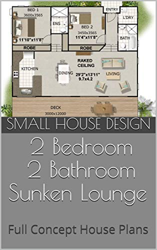 Amazon.com: Small House Design: 141KR -2 Bedroom + 2 ...