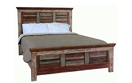 King Cabana Multi Color Louvered Bed Rustic Western Shabby Chic