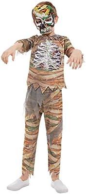 Smiffys 51073S Zombie - Disfraz de momia para niños (talla S, 4-6 ...
