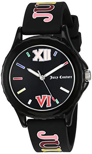 (Juicy Couture Black Label Women's JC/1003BKBK Black Silicone Strap Watch)