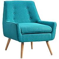 Linon Trelis Accent Chair in Bright Blue
