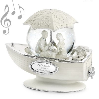 Things Remembered Personalized Together Forever Musical Snow Globe with Engraving Included