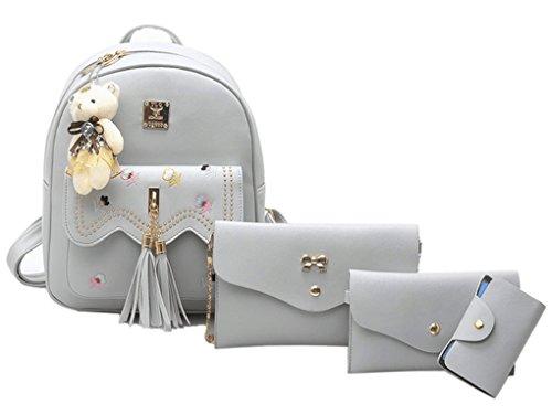 Weilong Teens School Backpack Set Canvas Girls School Bags