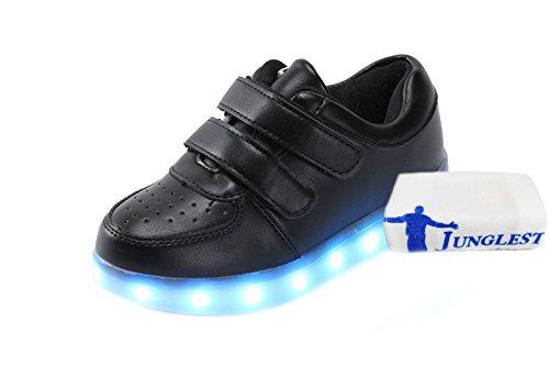 Colores Glow Mujeres USB junglest Up Presente Toalla Deportivos Light Zapatos Luminosos Carga a Unisex Hombres Flashing 7 Peque c10 LED Luz de Sneakers q8wgO