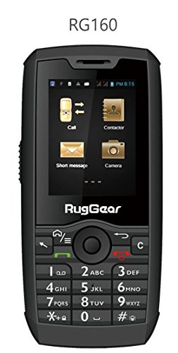 RugGear RG160, Unlocked Rugged Smartphone - Waterproof IP68-3G Android Touchscreen (3G 850/1900MHz in the Americas, 3G 2100MHz in Europe, Asia, Middle East, Africa) (Best Basic Touch Screen Phone)