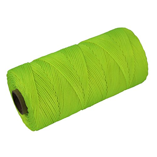 - Braided Nylon Mason Line #18 - SGT KNOTS - Moisture, Oil, Acid, Rot Resistant - Twine String Masonry, Marine, DIY Projects, Crafting, Commercial, Gardening use (250 feet - Fluorescent Yellow)