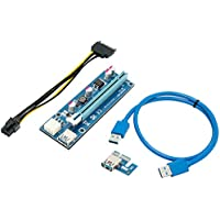 Mining Card, Riser Card, PCIe (PCI Express) 16x to 1x Riser Adapter, USB 3.0 Extension Cable + $5 Gift Card