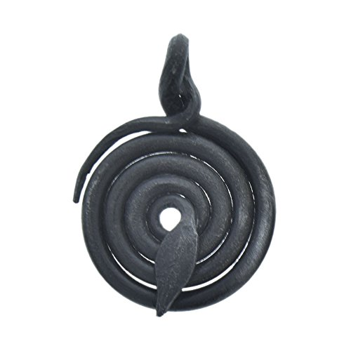 Forged Steel Coiled Snake Focal Pendant Drop ()