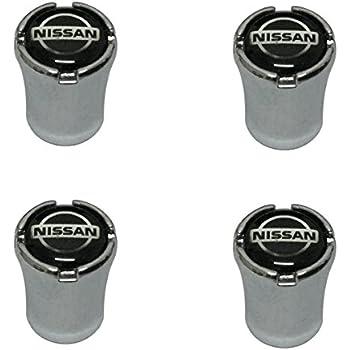 Modern Design 4pcs Black Logo Chrome Auto Car Wheel Tire Air Valve Caps Tire Decoration For Nissan Car Model