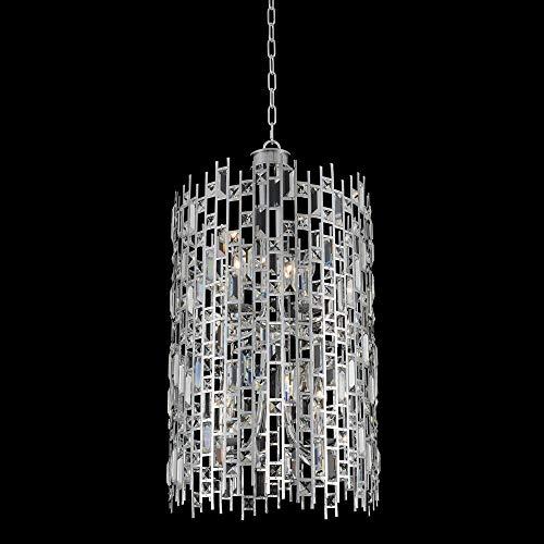 Kalco 033050-010-FR001 Fonseca - Eight Light Foyer, Chrome Finish with Firenze Clear Crystal