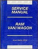 2002 Dodge Ram Van & Wagon Repair Shop Manual Original B1500-B3500