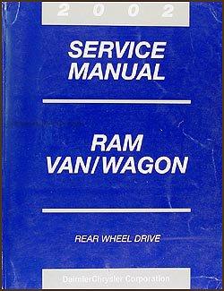 2002 Dodge Ram Van & Wagon Repair Shop Manual Original B1500-B3500 -