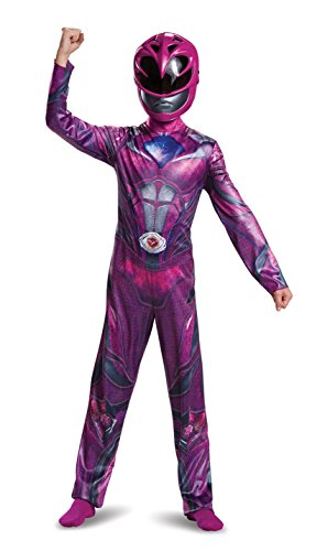Girls Pink Ninja Costumes (Power Ranger Movie Classic Costume, Pink, Small (4-6X))