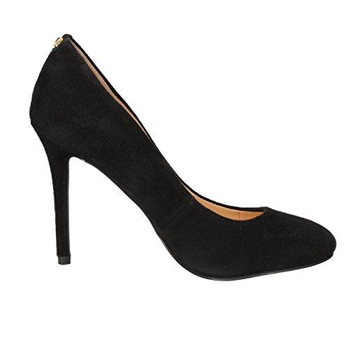 Guess - Zapatos de vestir de ante para mujer negro negro