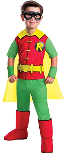 Rubie's Costume Boys DC Comics Deluxe Robin Costume, Small, Multicolor (Robin Dc Costumes)