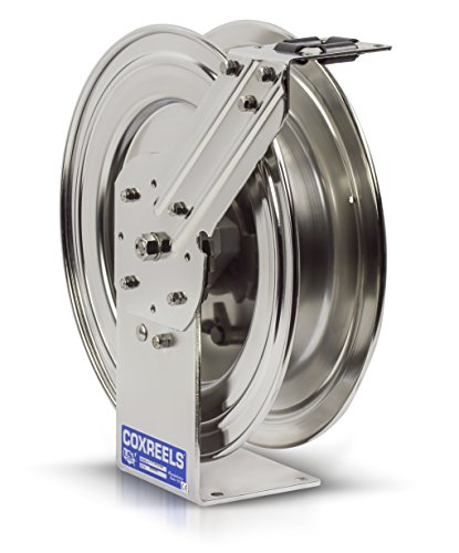 Spring Rewind Reel (Coxreels P-LPL-425-SS Stainless Steel Spring Rewind Hose Reel: 1/2