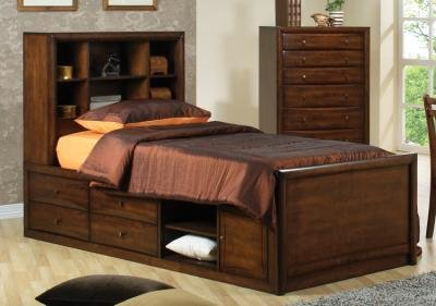 Coaster 400280F-CO Scottsdale Walnut Full Chest Bed -