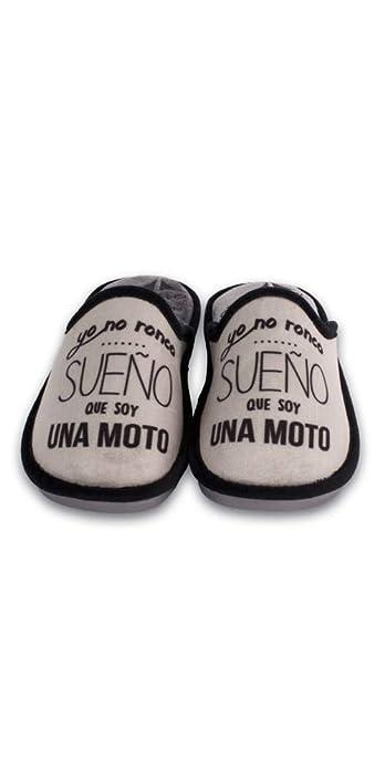 SE ME Rien LOS PIES Zapatillas Sueño Que Soy una Moto: Amazon.es: Zapatos y complementos