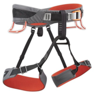 Black Diamond Momentum SA Harness – Steel/Lava – Medium, Outdoor Stuffs