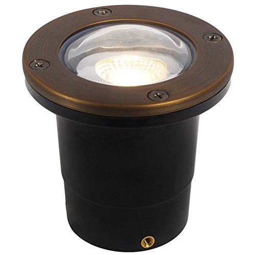 Composite in Ground Well Light w/Open Face Cover - PGC3B (Bronze - Brass)