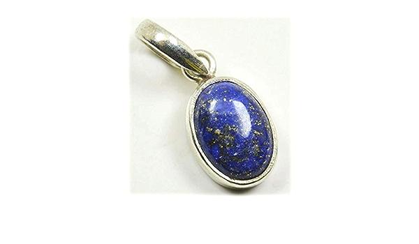 Large Teardrop Lapis Lazuli Necklace Sterling Silver Infinite Natural Blue Lapis Lazuli Pendant