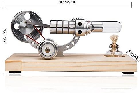 KOBWA Motor de aire caliente Stirling Motor modelo educativo ...