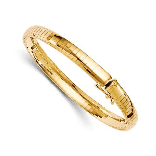 Leslie's 14k Yellow Gold 6mm Domed Omega Bracelet 8