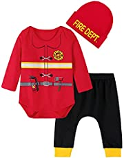 MOMBEBE COSLAND Baby Boy Halloween Outfit Clothes Set with Hat