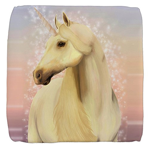 (18 Inch 6-Sided Cube Ottoman Real Unicorn Magic)