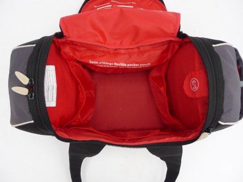 Göttin II Damen Sporttasche mit Kulturbeutel und Schuh und Wäschesack schwarz/grau