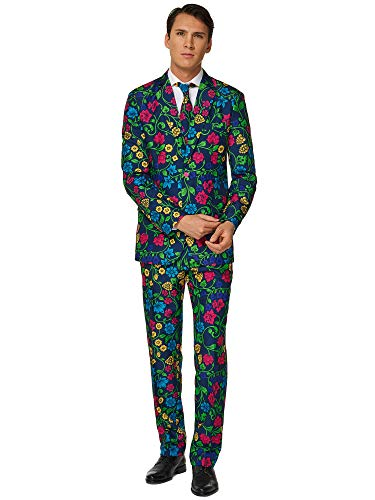 Pimp TigSuitmeister Suits for Men Comes with Jacket, Pants and Tie with Fun Prints er -