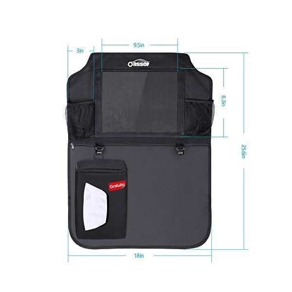 Oasser Protezione Sedili Auto Bambini 2pcs Proteggi Sedile Organizzatore Sedile Posteriore Impermeabile Supporto 6