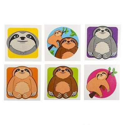 2'' SLOTH TATTOOS, Case of 30 by DollarItemDirect (Image #1)