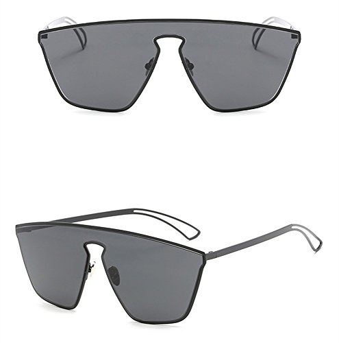 Inoxidable Color Doble Gafas Sol Hombre Sol Frío Moda Frame De Gafas De Gray Acero WHLDK Black Matte De Gafas De De Sol vdx8wWTqz