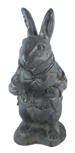 Alice In Wonderland White Rabbit Garden Statue -
