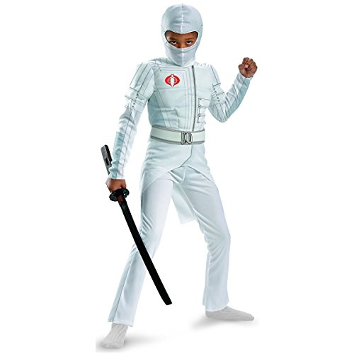 Disguise Boys GI Joe Movie Storm Shadow Light Up Deluxe Muscle Costume, Small/4-6 (4 Person Costume Ideas)