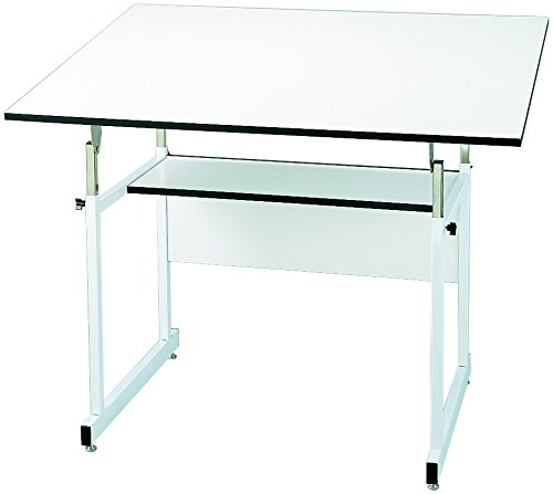 Alvin WMJ48-4-XB WorkMaster Jr. Table, White Base White Top 36 inches x 48 inches by Alvin