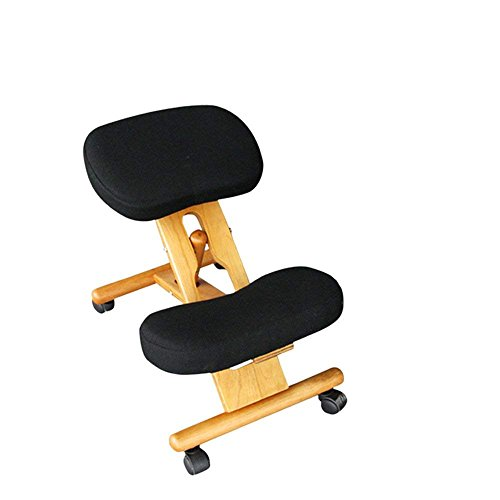 QTQZ Brisk - Adult Tumbler Memory Foam Solid Wood Kneeling Chair Computer Stool Lift up and Down Engineering Back Pain Camel Back Write Ruling Chair (Color: 3)