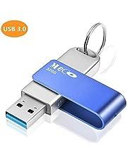 MECO ELEVERDE USB Stick 32GB, USB 3.0 Memory Stick Aluminium mit Schlüsselring Speicherstick USB Flash Drive Weihnachten/Geburtstag Geschenk für School, Büro,Kinder und Home